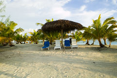 Paraíso ideal tropical de la playa Fotos de archivo libres de regalías