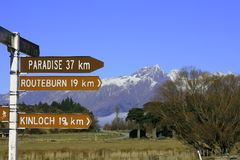 Paraíso, Nueva Zelandia Foto de archivo