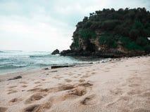 Paraíso ocultado en Indonesia Fotografía de archivo