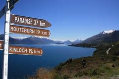 Paraíso por Lago Wakatipu Fotos de Stock