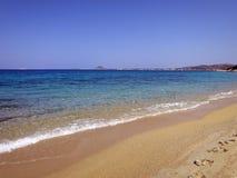 Paraíso quieto na ilha de Naxos foto de stock