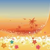 Paraíso tropical stock de ilustración