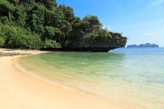 Paraíso tropical da ilha, Koh Pakbia, Krabi, Tailândia Imagem de Stock