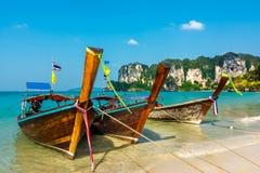 Paraíso tropical da ilha na praia de Railey Imagens de Stock Royalty Free