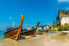 Paraíso tropical da ilha na praia de Railey Fotografia de Stock