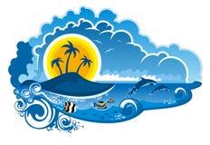 Paraíso tropical de la isla libre illustration