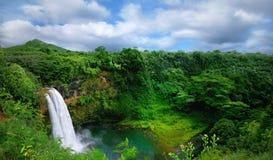 Paraíso tropical de la isla en Kauai Hawaii Fotos de archivo