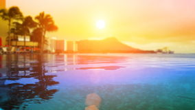 Paraíso tropical del complejo playero metrajes