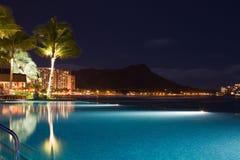 Paraíso tropical del complejo playero - Waikiki, Hawaii Imagen de archivo libre de regalías