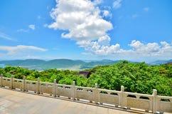Paraíso tropical Forest Park da baía de Yalong - vistas bonitas Imagens de Stock Royalty Free