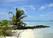 Paraíso tropical maldives Fotografia de Stock Royalty Free