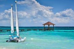 Paraíso tropical por vacaciones de verano Fotografía de archivo libre de regalías
