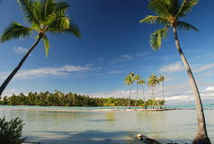 Paraíso tropical. Tahaa, Polinesia francesa Foto de archivo libre de regalías