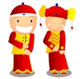 para śliczny szczęśliwy Oriental Zdjęcie Royalty Free