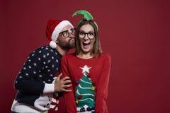 para świąteczne Zdjęcie Stock