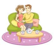 Para royalty ilustracja