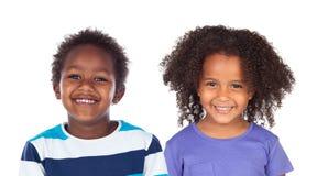 Para Afro amerykanina dzieci Zdjęcia Royalty Free