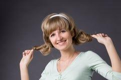 Para apertar acima o cabelo Imagem de Stock Royalty Free