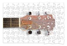 Para aprender ponto por ponto jogar a guitarra - imagem do conceito na forma do enigma ilustração do vetor