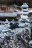 Para arriba llenadas piedras Imágenes de archivo libres de regalías