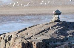 Para arriba llenadas piedras Fotos de archivo