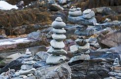Para arriba llenadas piedras Imagenes de archivo