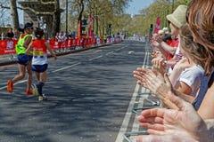 Para athletics race of London Marathon Stock Photo