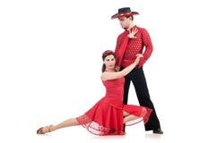 Para av dansare Arkivfoto