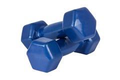 Para błękitni dumbbells Fotografia Stock