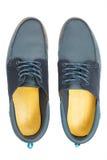 Para błękitni męscy buty Obrazy Stock