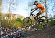 Para baixo Biking Fotos de Stock