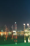 Para baixo cidade de Dubai Imagens de Stock Royalty Free