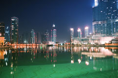Para baixo cidade de Dubai Fotos de Stock Royalty Free