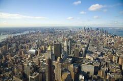 Para baixo cidade Manhattan Fotos de Stock Royalty Free