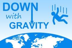 Para baixo com gravidade ilustração do vetor