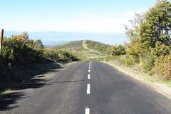 Para baixo estrada do monte Imagem de Stock Royalty Free