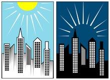 Para baixo iluminação e iluminação ascendente ilustração stock