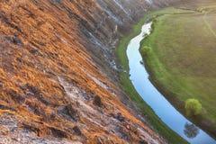 Para baixo no beira-rio Imagem de Stock Royalty Free
