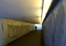 Para baixo no metro Imagem de Stock