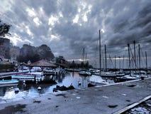 Para baixo no porto Imagem de Stock