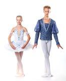 Para baletniczych tancerzy pozować zdjęcia stock