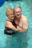 para basen seniora opływa Fotografia Stock