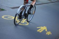 Para bicyclists e pedestres Foto de Stock Royalty Free
