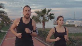 Para biega wpólnie plenerowego zdjęcie wideo