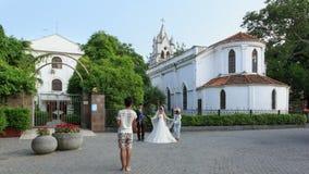 Para Bierze Poślubiający obrazek Przy Gulangyu wyspą Obrazy Stock