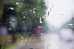 Para-brisa chuvoso Foto de Stock