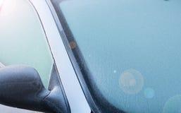 Para-brisa congelado Foto de Stock