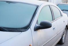 Para-brisa congelado Fotos de Stock