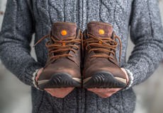 para butów brown Zdjęcia Stock