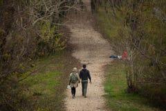 Para Chodzi w parku narodowym Obraz Stock